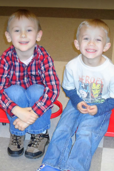 photo of two preschool boys